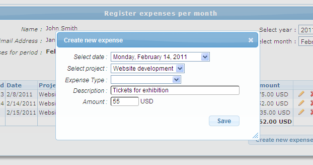 The expense tracking module is perfect for individuals and small business to keep